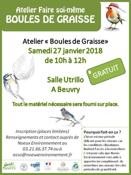 Atelier «Boules de Graisse» @ Salle Utrillo   Ballon   Pays de la Loire   France