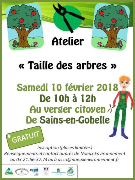 """Atelier """"Taille des arbres"""" @ Verger citoyen de Sains-en-Gohelle"""