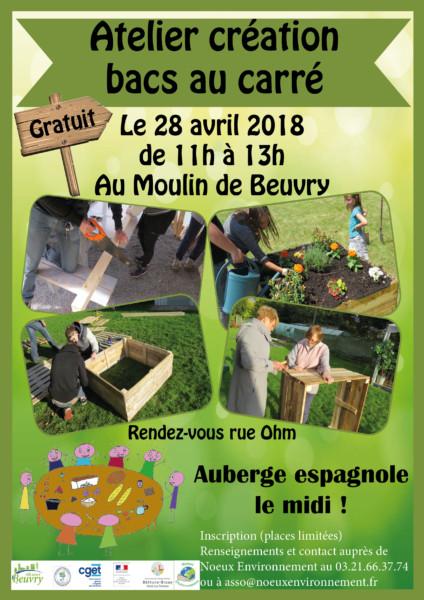 Création de bacs au carré @ Au Moulin | Beuvry | Hauts-de-France | France